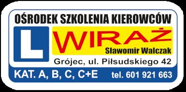 """Ośrodek Szkolenia Kierowców """"W I R A Ż """""""